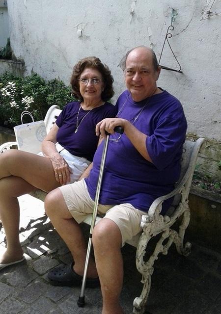 Silene e Joaquim Marinho, aliás ela, é uma das festejadas aniversariantes deste domingo
