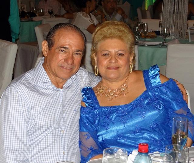 Alberto e Rocilda Martins nos iluminados salões da Grande Manaus