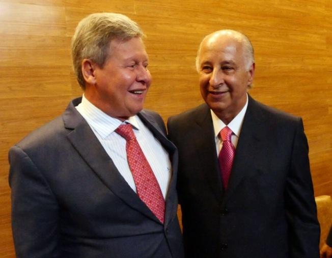 O prefeito Arthur Neto e o presidente da CBF, Marco Polo Nero afinando parceria para os jogos das Olimpíadas 2016 aqui em Manaus