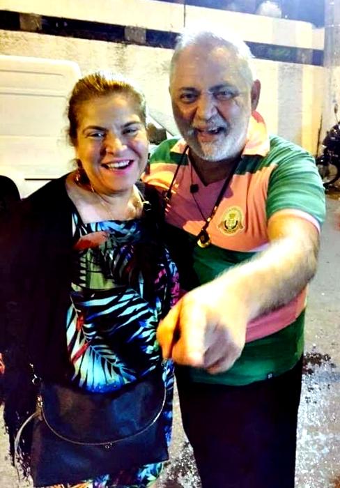 Mazé Mourão e Zeca Nascimento vivem momento de êxtase com a vitória espetacular da sua Estação Primeira de Mangueira