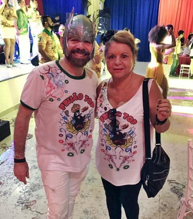 O colunista Fernando Coelho e sua fiel escudeira Marilena Perales, articuladores do badalado Feijão TOP, que inicia as folias de Momo na Grande Manaus